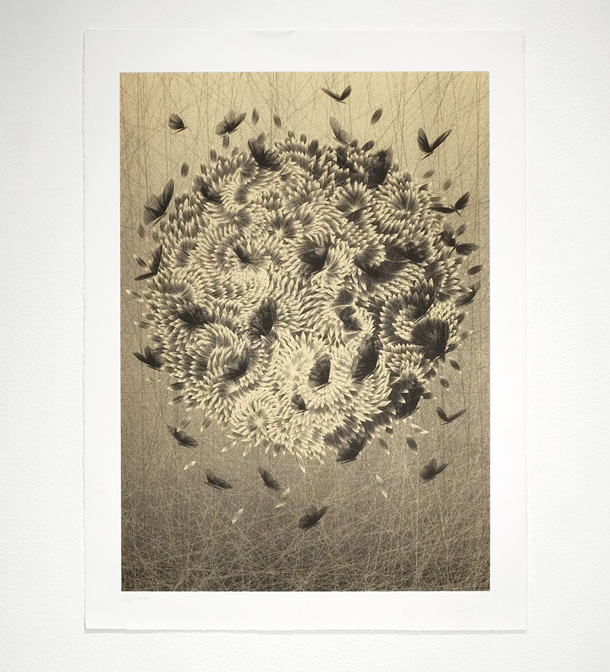Black Angels copper print